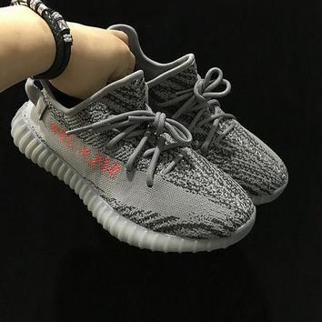 Adidas Yeezy Boost 350 V2 Sply Ah2203 Grey Women Men Fashion Trending Running Sneakers