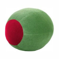 Funky Green Martini Olive Shaped Throw Pillow