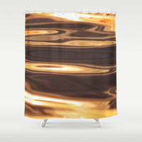 Water Sunset Pattern Shower Curtain by tanjariedel