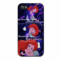 Ariel The Little Mermaid Quote iPhone 5s Case