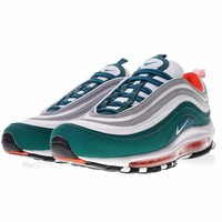 "Nike Air Max 97 ""Dark Green&Sliver"" Retro Running Shoes 921522-300"