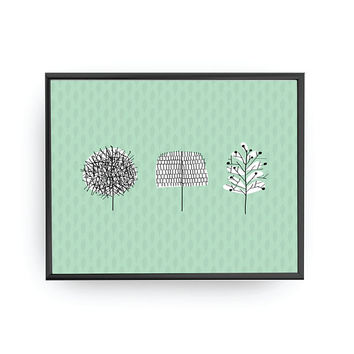 Three Green Trees, Nursery Art, Kids Print, Trees Poster, Kids Room Decor, Nursery Education, Playroom Art, Nursery Decor, Learning Plants