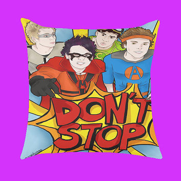 5 Seconds of Summer Don't Stop Design - Pillow Case, Rectangle Pillow One Side/Two Sides.