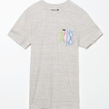 Hurley Tribe Pocket T-Shirt - Mens Tee - White