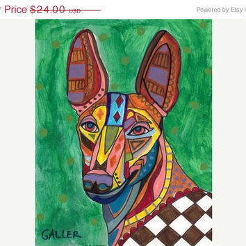 Dog Print Abstract Art Prints Cirneco Dell by HeatherGallerArt
