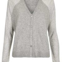 Knitted Sheer Solid Cardi - Grey Marl
