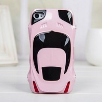 Sport Car Style Plastic Hard Cover Case for Iphone 4/4s pink