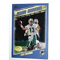 2000 Topps Collection #322 Dan Marino LAST TOPPS CARD HL 60,000 Yds Dolphins QB