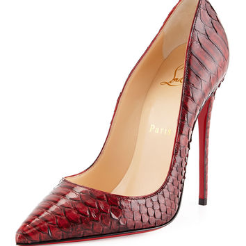 So Kate Python Red Sole Pump, Red