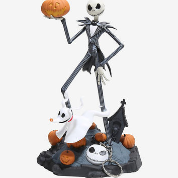 The Nightmare Before Christmas Jack & Zero Finders Keypers Statue