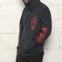 Infinite Ruffians Rugby Zip Up Hoodie Navy