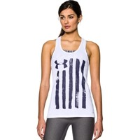 Under Armour Women's Charged Cotton Tri-Blend Patriotic Tank Top