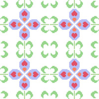 Textile like cross stitch pattern. Modern cross stitch pattern. Contemporary cross stitch design.