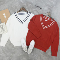 Irregular long-sleeved sweater women