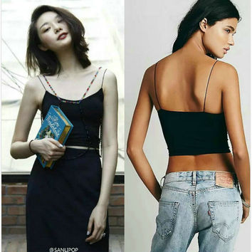 Backless Camisole Spaghetti Strap Tops Strap [4918690948]