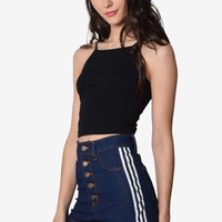 Finish Line High Rise Denim Shorts