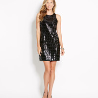Sequin Rope Shift Dress