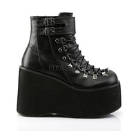 Demonia Black Lace Up Platform Boots
