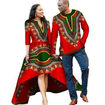 Cotton Batik Print Dress (men+women) Clothing New African Couples