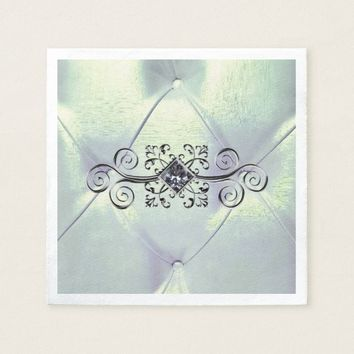 Posh pintuck diamond napkin