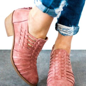 Canyon Run Mauve Booties