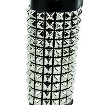 Pyramid Stud Leather Wristband Heavy Metal Armband Gauntlet