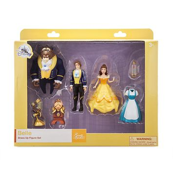 Disney Parks Belle Dress Up Figure Set New with Box