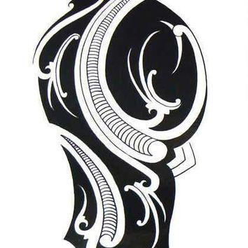 e0be83f56 Arm Tribal Large Black Temporary Tattoo