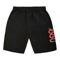 GUCCI New fashion embroidery snake couple shorts Black