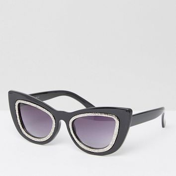 AJ Morgan Cat Eye Sunglasses at asos.com