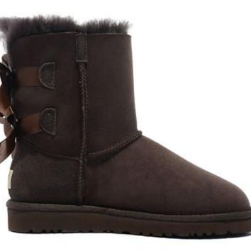 UGG Women Australia Bailey Bow Boots Chocolate
