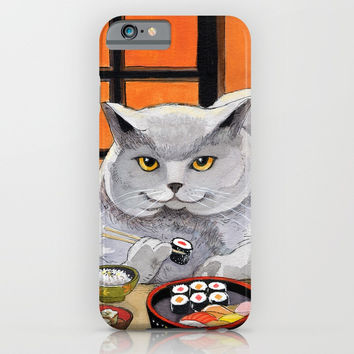 Sushi Cat- Big Fred iPhone & iPod Case by Christina Siravo