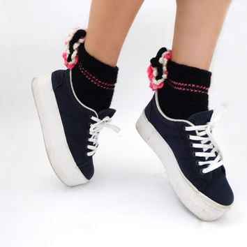 Vtg blue platform sneakers Club sneakers 90s Fashion Platform Cyber 90s Shoes