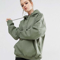 Arm Green Womens Warm Coat Hoodie Overcoat Long Jacket Sweatshirt Outerwear