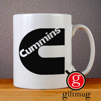 Cummins Logo Ceramic Coffee Mugs