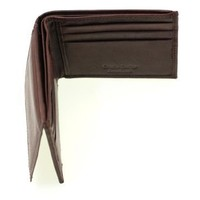 Paul & Taylor Genuine Leather Men's Slim Bifold Wallet With Outside Flap Up ID Brown