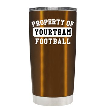 TREK Property of Football Personalized on Copper 20 oz Tumbler Cup