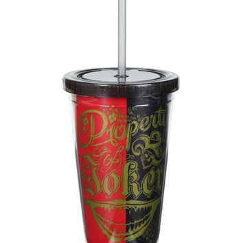 DC Comics Suicide Squad Property Of Joker Acrylic Travel Cup