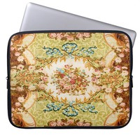 Baroque pattern laptop sleeve