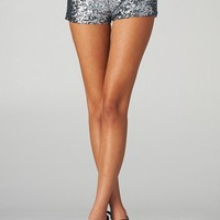 Sequined Short Shorts (Charcoal)