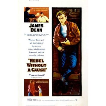 Rebel Without A Cause Movie poster Metal Sign Wall Art 8in x 12in