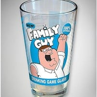 Family Guy Drinking Game Pint Glass - Spencer's