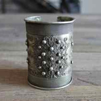 Hill Tribe Silver Large Studded Cuff