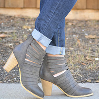 Step In Line Booties-Grey