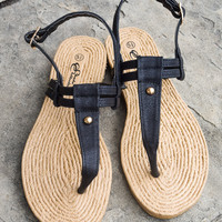 Simple Summer Sandal Black