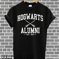 Hogwarts Alumni Shirt Harry Potter Shirts Tshirt T-shirt Printed Black and White Color Unisex Size - AR63