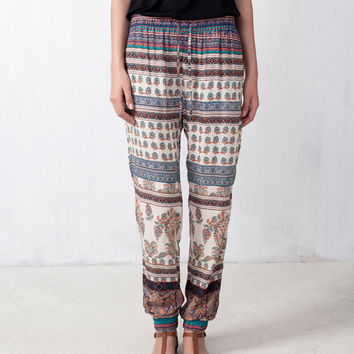 HINDU PRINT BAGGY PANTS - TROUSERS AND SHORTS - WOMAN -  PULL&BEAR United Kingdom