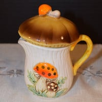 Sears & Roebuck Merry Mushroom Creamer Vintage 1976 Sears Mushroom Creamer Jug Made in Japan Ceramic Small Pitcher Kitschy Kitchen