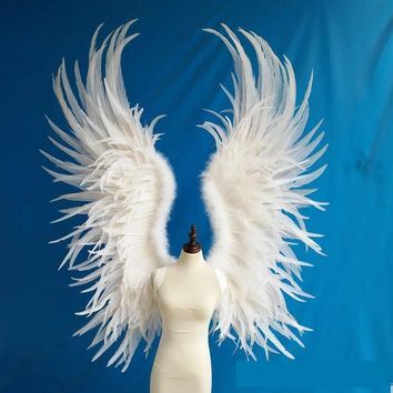 Extra Large White Angel Feather Wings Model Show Stage Cosplay Costume