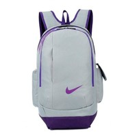 DCCKHI2 Nike Casual Style Daypack Travel Bag Backpack Shoulder Bag School Backpack Grey purple Tagre-